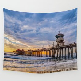 Unsettled Sunset Wall Tapestry