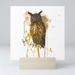 Brutus Eurasian Eagle Owl Mini Art Print