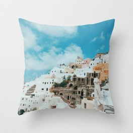 Santorini, Greece Throw Pillow