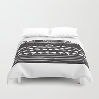 typewriter Duvet Covers featuring Typewriter  by Gemma Bullen Design