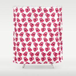 Hot Lips Pattern Shower Curtain