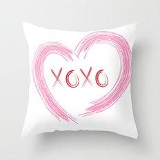 XOXO Heart Throw Pillow