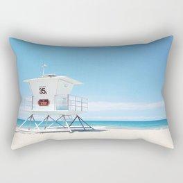 Lifeguard tower Carlsbad 35 Rectangular Pillow