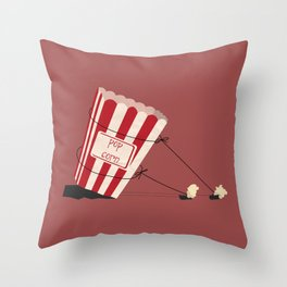 end of popcorn dictatorship Throw Pillow