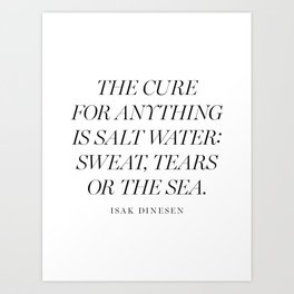 Salt Water Art Print