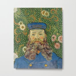 Portrait of the Postman Joseph Roulin by Vincent van Gogh Metal Print