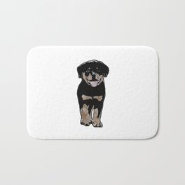 Rottweiler Love Bath Mat