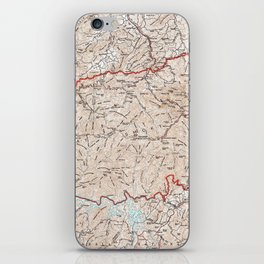 Vintage Smoky Mountains National Park Map (1972) iPhone Skin
