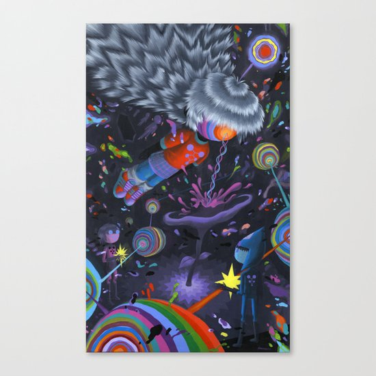 Node in the Noosphere Canvas Print