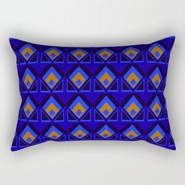 Blue and Orange Pattern Rectangular Pillow