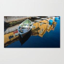 Scandinavian Row Boat Canvas Print