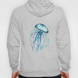 Watercolor Aqua Jellyfish Hoody