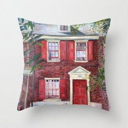 130 Elfreths Alley in Philadelphia Throw Pillow