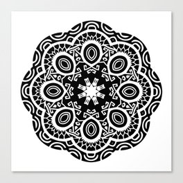Polynesian style mandala tattoo 2 Canvas Print