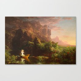 Thomas Cole - The Voyage of Life Childhood, 1842 Canvas Print
