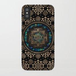 Sri Yantra  / Sri Chakra Marble and Gold iPhone Case