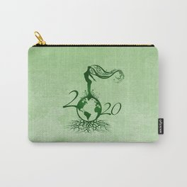 Mother Earth 2020 - Grunge Green Carry-All Pouch