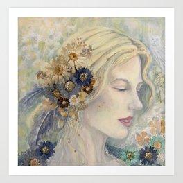 Welsh Goddess of Spring Blodeuwedd Art Print