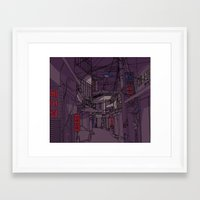 seoul Framed Art Prints featuring Seoul  by Confetti Guillemetti