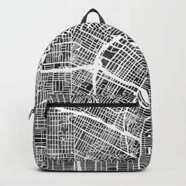 Los Angeles City Street Map Backpack