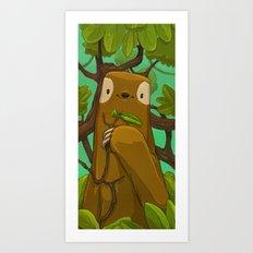 Sally the Sloth Art Print