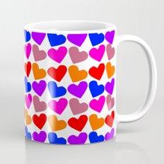 Colorful Hearts Pattern Mug