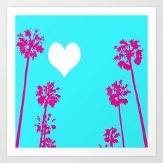 Palm Tree Love  Art Print