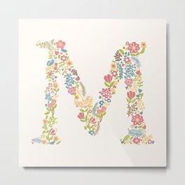 Alphabet M Metal Print