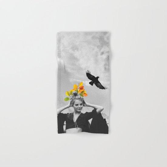 CROW GIRL Hand & Bath Towel