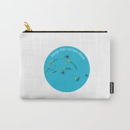 Keep the Ocean Blue_Dolphin_G Carry-All Pouch
