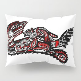 Haida Otter and Baby Pillow Sham