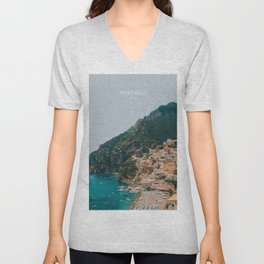 Positano Italy Travel Artwork Unisex V-Neck