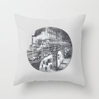 manhattan Throw Pillows featuring Manhattan by Margo Orlovik