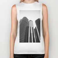 renaissance Biker Tanks featuring Renaissance Center by Starr Cuevas Photography