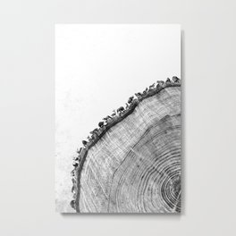 Tree Ring Print Metal Print
