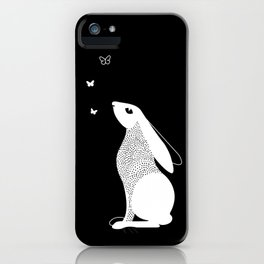 Rabbit and Butterfly Spirit Animal iPhone Case