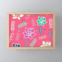 Floral ornament in pink Framed Mini Art Print