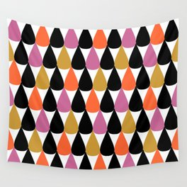 Stylish colorful drop pattern Wall Tapestry