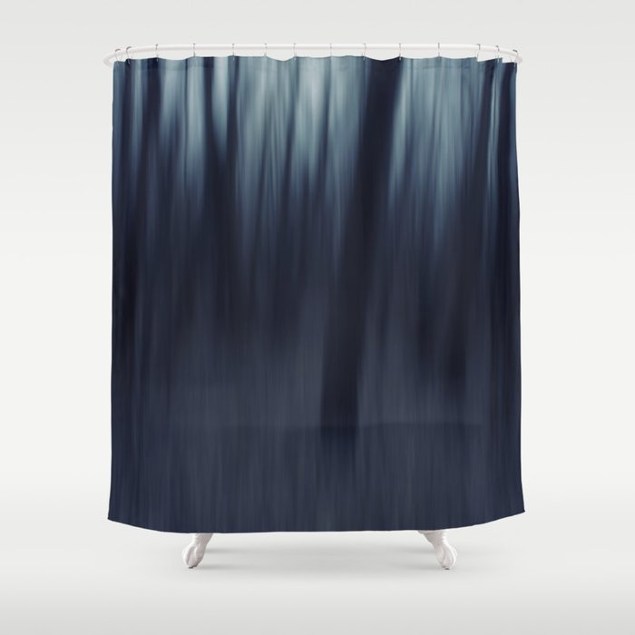 In A Forest Pitch Dark Shower Curtain