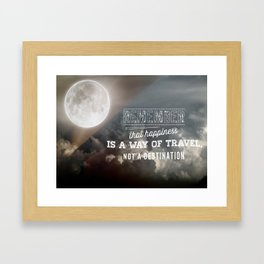 Happiness Quote Framed Art Print
