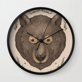 The Bear and Cedar Wall Clock