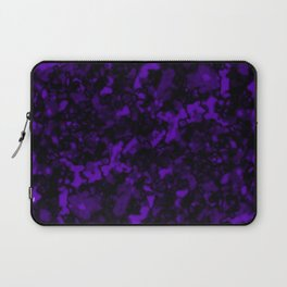 A gloomy cluster of violet bodies on a dark background. Laptop Sleeve