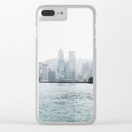 Foggy line Clear iPhone Case