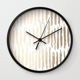 White Gold Sands Vertical Dash Wall Clock