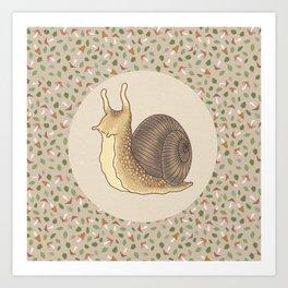 Autumn snail Art Print