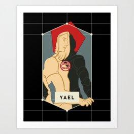 Yael Legacy Silhouette Art Print