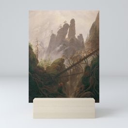 Caspar David Friedrich - Rocky Lanscape in the Elbe Sandstone Mountains Mini Art Print