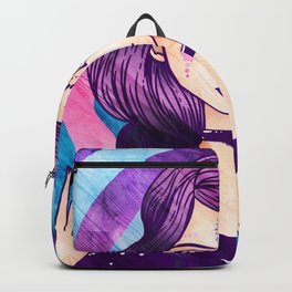Purple Goth Witch Backpack