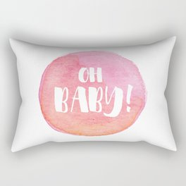 {Oh baby... it's a girl!} Rectangular Pillow