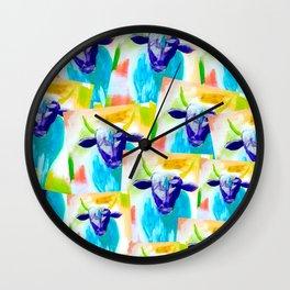 Blue Nitrous Wall Clock